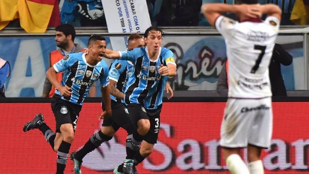 La primera final de la Libertadores fue de Gremio: venció 1-0 a Lanús