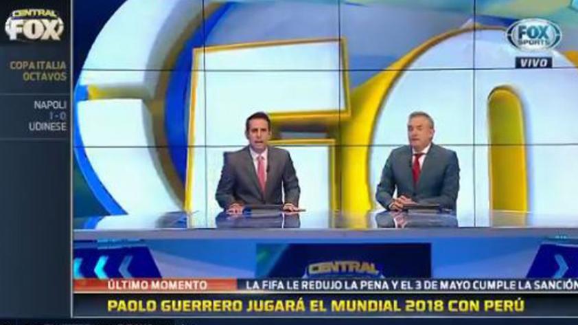 Así informaron en Argentina la reducción de la sanción de Paolo Guerrero