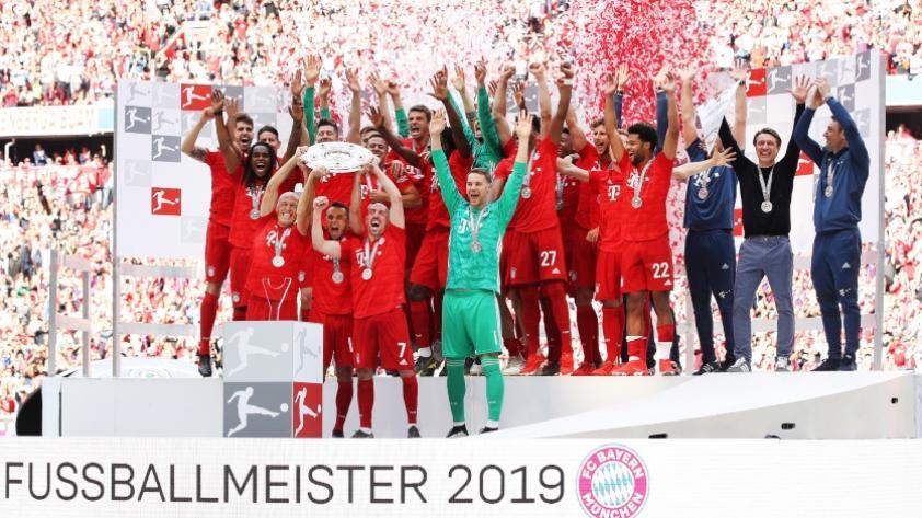 Goleada y título: FC Bayern se proclamó campeón de la Bundesliga tras ganar 5-1 al Frankfurt