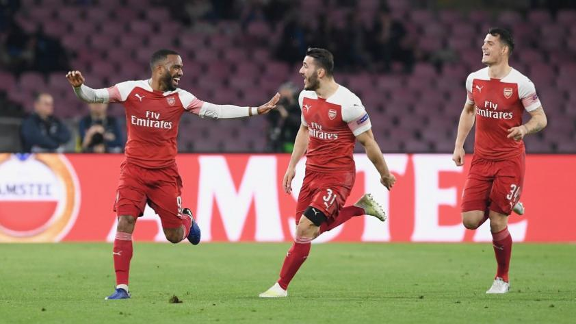 Entre los 4 mejores: Arsenal venció al Nápoli y clasificó a las semifinales de la Europa League