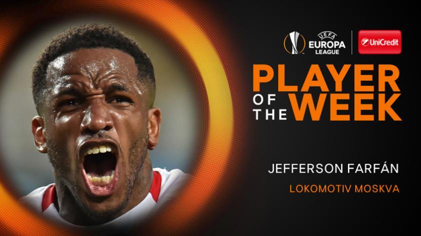 Jefferson Farfán es elegido mejor jugador de la fecha en la Europa League