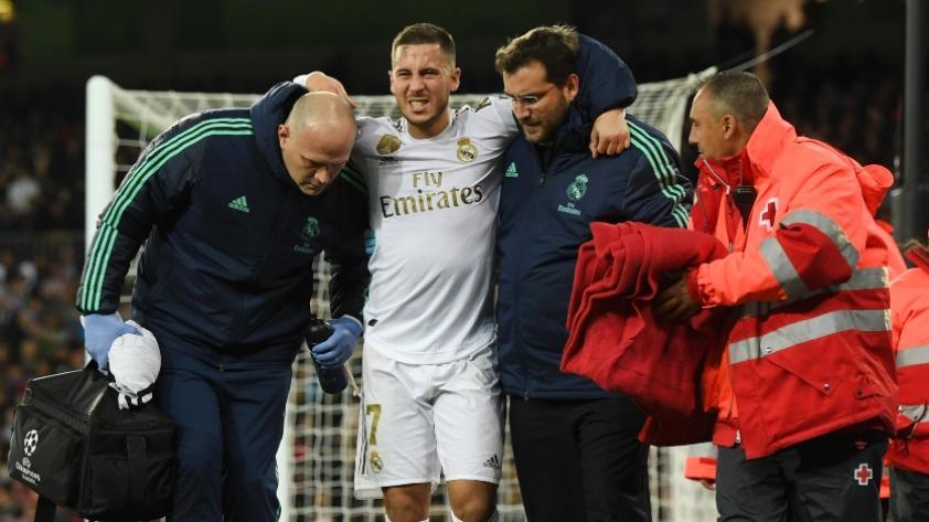 Eden Hazard lesionado en el Real Madrid y se pierde el superclásico contra Barcelona