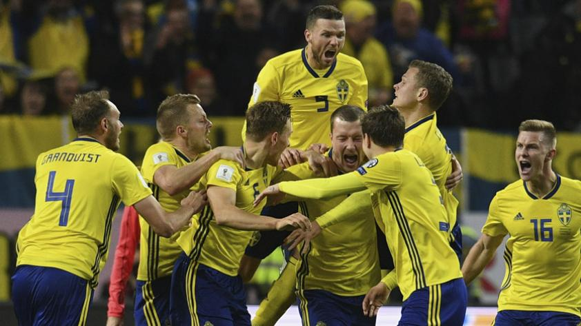 Suecia vs Italia: 1-0 para los locales que buscan eliminar a la 'Azzurri'
