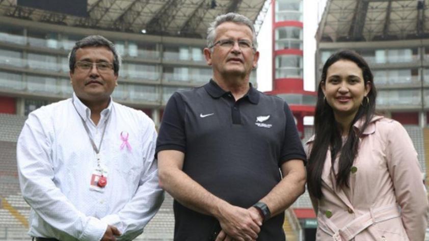 """Gerente de Nueva Zelanda en Lima: """"El estadio Nacional es hermoso y el campo está muy bien"""""""