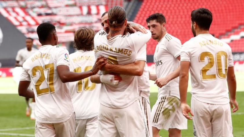 Con gol de Ramos: Real Madrid ganó por 1-0 al Athletic Club y continúa como líder de LaLiga