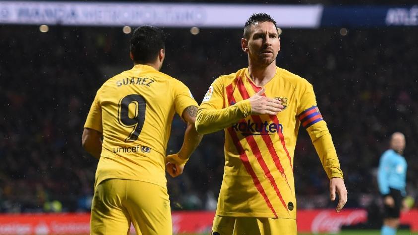 Simeone luego de la anotación de Messi: