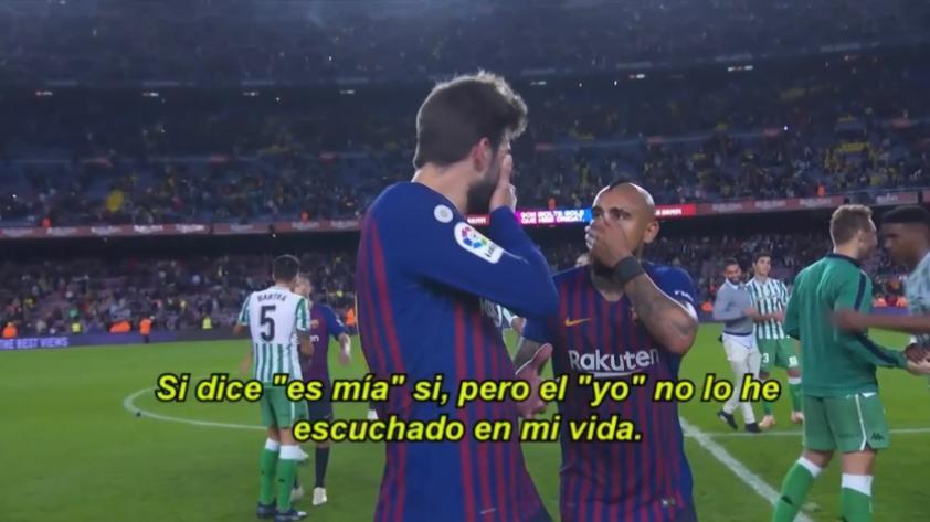 Piqué y Vidal discutieron luego de la derrota del FC Barcelona (VIDEO)
