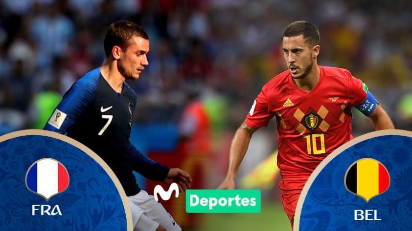 Francia vs Bélgica: día y hora del partido por semifinales de Rusia 2018