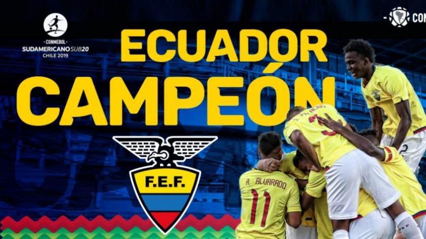 Sudamericano Sub 20: Ecuador, Uruguay, Argentina y Colombia clasificaron al Mundial de Polonia 2019