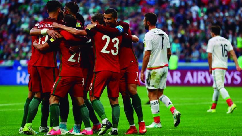México y Portugal igualaron 2-2