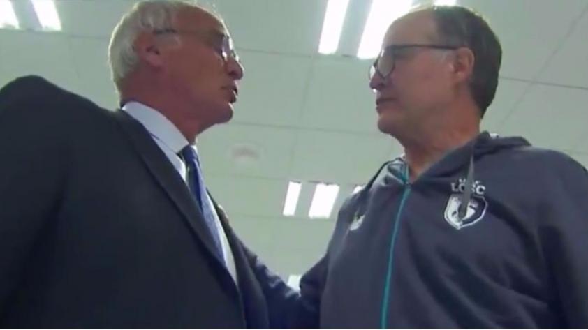 (VIDEO) El emotivo encuentro entre Marcelo Bielsa y Claudio Ranieri en Francia