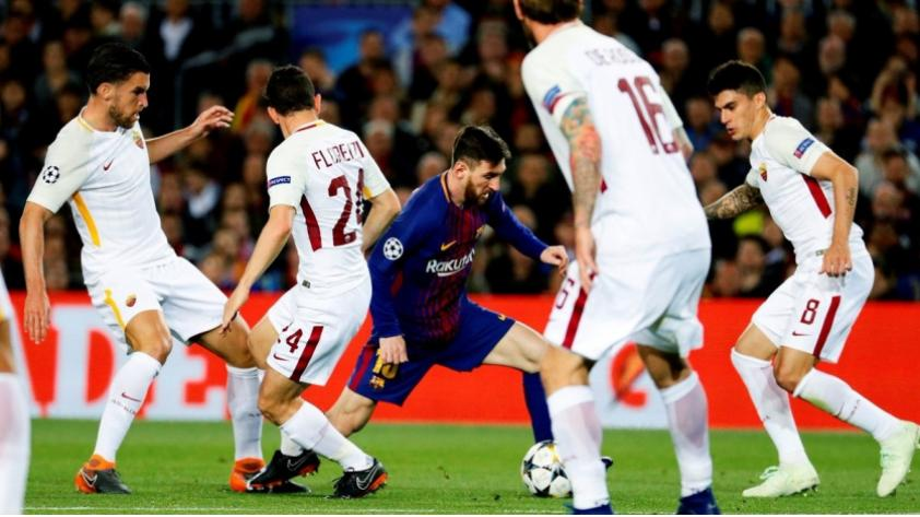 Barcelona ganó 4-1 a la Roma y está más cerca de semifinales de Champions