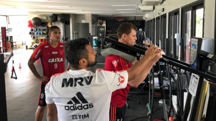Paolo Guerrero volvió a entrenar con el Flamengo después de Rusia 2018