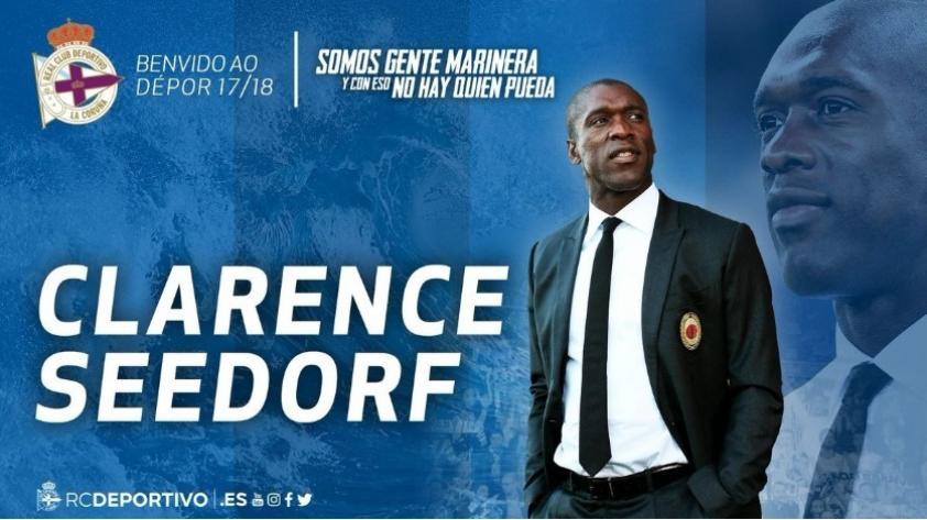 Clarence Seedorf llega a La Coruña para firmar como técnico del Deportivo