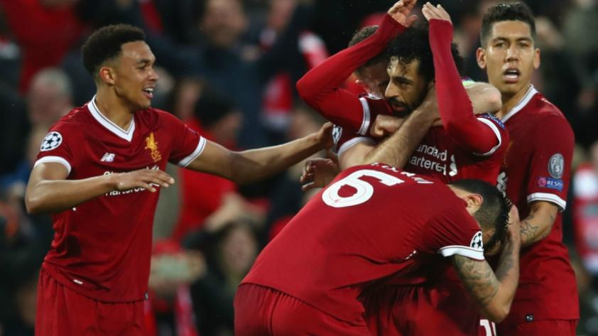 Liverpool asoma a la final de Champions League luego de vencer 5-2 a Roma en Anfield