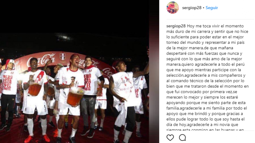 Selección Peruana: El mensaje de Sergio Peña luego de quedar fuera de la lista de 23