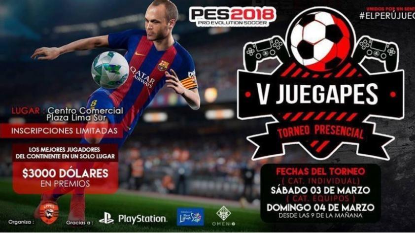 Atención Gamers ¡Anuncian el V JUEGAPES: Torneo Internacional de Pro Evolution Soccer!