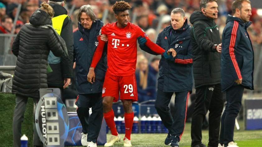 La fuerte lesión de Kingsley Coman que lo sacó del partido de FC Bayern (VIDEO)