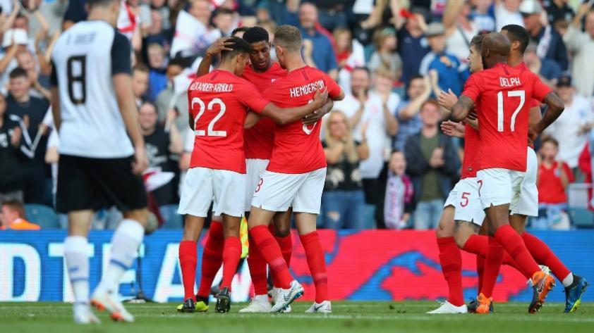 Inglaterra venció 2-0 a Costa Rica y quedó listo para la Copa del Mundo