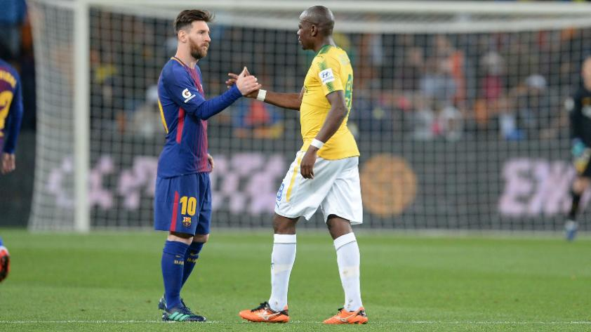 Lionel Messi: Jugadores del Mamelodi Sundowns se tomaron foto con el jugador argentino