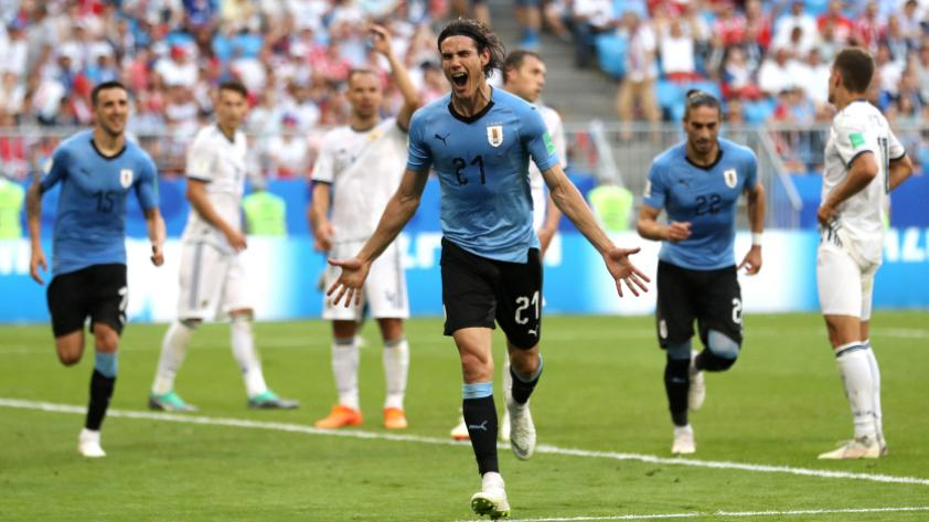 Uruguay le ganó 2-1 a Portugal y pasa a cuartos de final de Rusia 2018