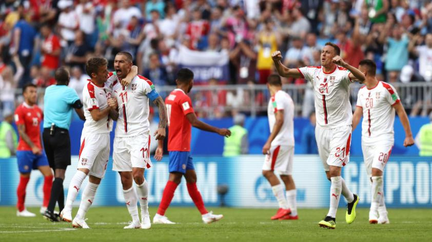 Serbia derrotó 1-0 a Costa Rica por el grupo E de Rusia 2018