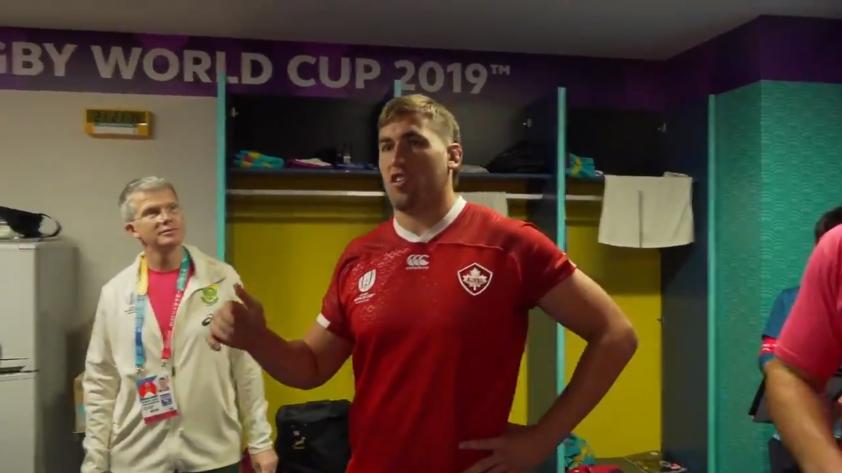 Mundial de Rugby: el ejemplar gesto del jugador canadiense que fue expulsado por un tackle peligroso (VIDEO)