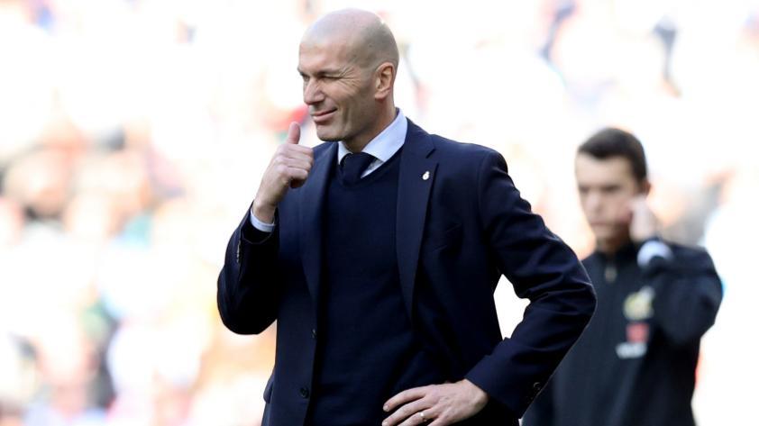 """Zidane: """"La gente quiere ver que lo damos todo y me gusta que agradezcan el esfuerzo que hacemos"""""""