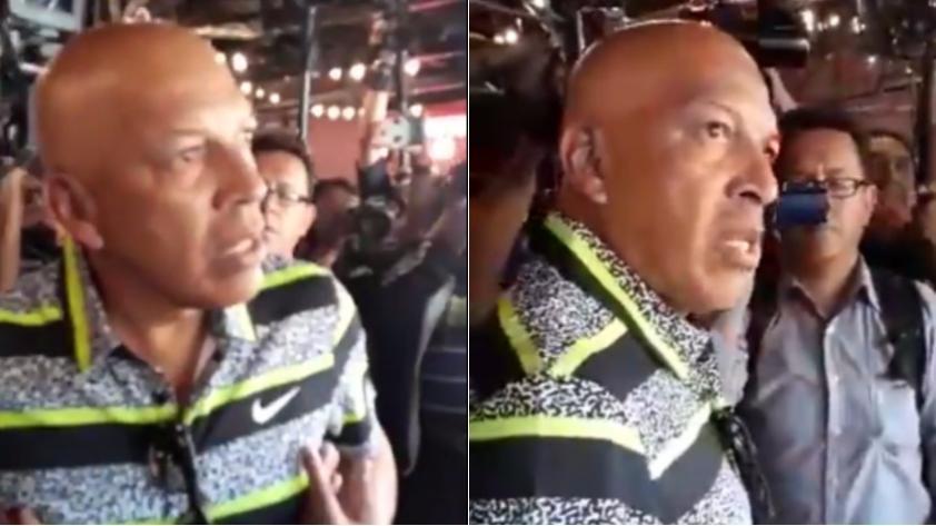 (VIDEO) Roberto Mosquera se enfrentó a 'hinchas' del Wilstermann y los dejó en ridículo