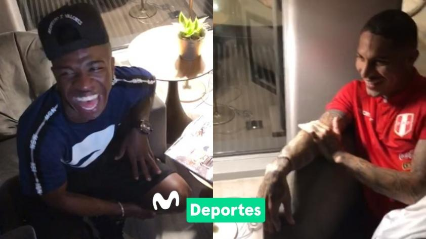 ¡No pararon de reír! Vinicius Jr. y Paolo Guerrero fueron sorprendidos con truco de magia por El Fuera de Lista (VIDEO)