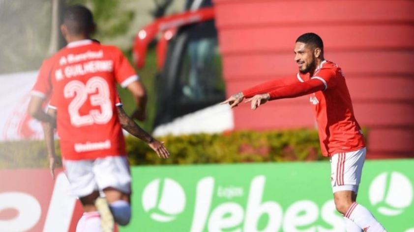Volvió el gol: Paolo Guerrero anota el 1-0 para el Internacional de Porto Alegre (VIDEO)