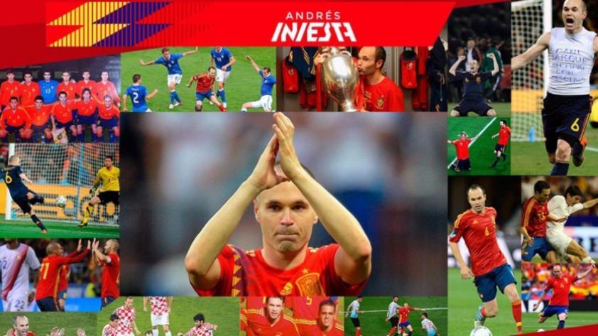 Andrés Iniesta se despide de la selección española