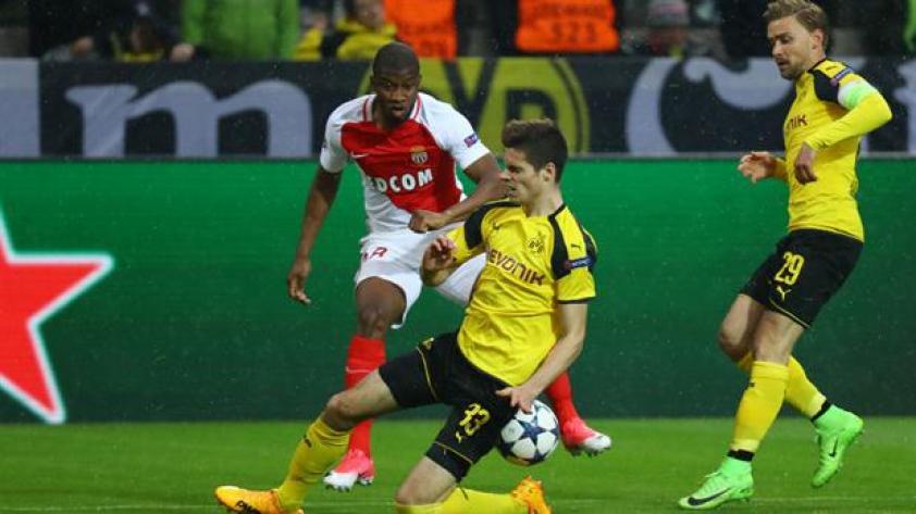 Mónaco vence 3 - 1 al Borussia y se está clasificando a semis
