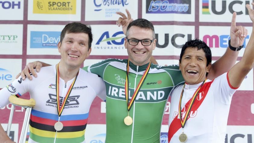 Peruano gana el bronce en torneo mundial de paraciclismo en Bélgica