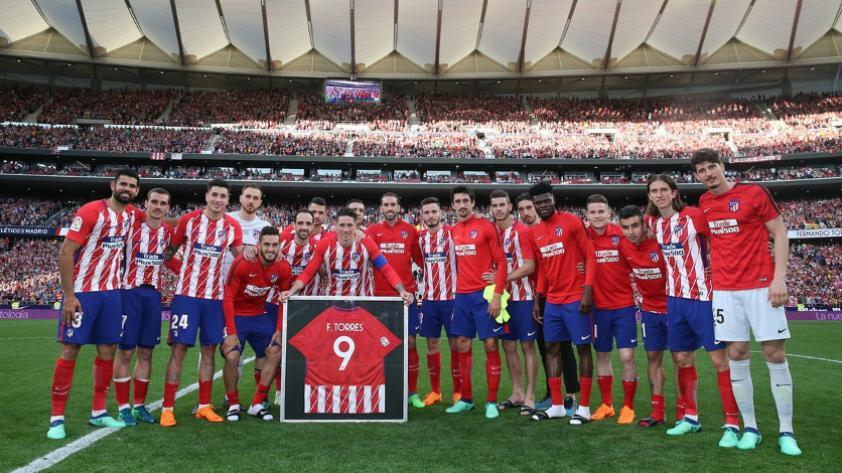 Con un doblete Fernando Torres se despide del Atlético de Madrid
