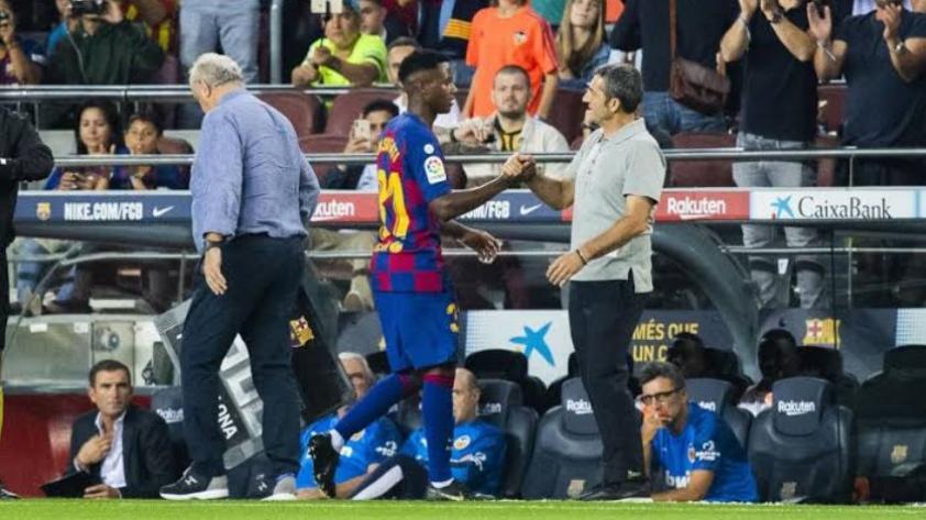 La despedida de Ansu Fati para Valverde: