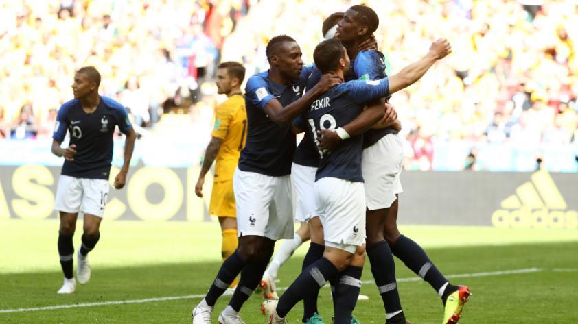 Francia derrotó 2-1 a Australia en el primer partido del grupo C de Rusia 2018