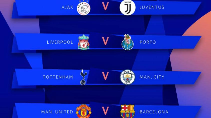 ¡Estas son las llaves para los cuartos de final de la Champions League!