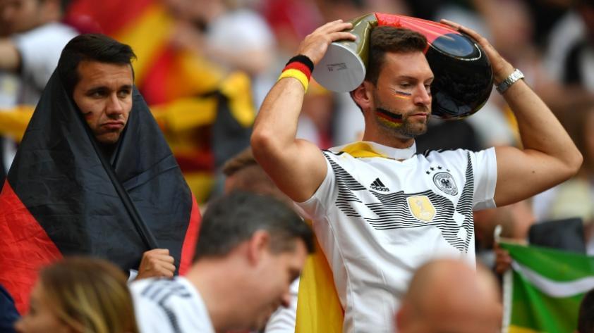 Rusia 2018: La reacción de hinchas alemanes luego de la derrota contra México (VIDEO)