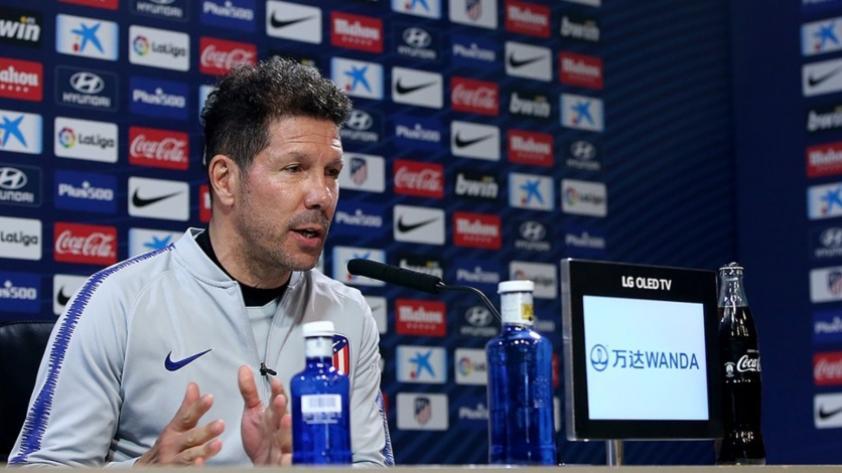 Diego Simeone, entrenador del Atlético de Madrid: