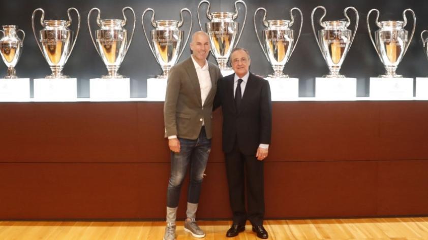 Florentino Pérez a Zinedine Zidane en su presentación: