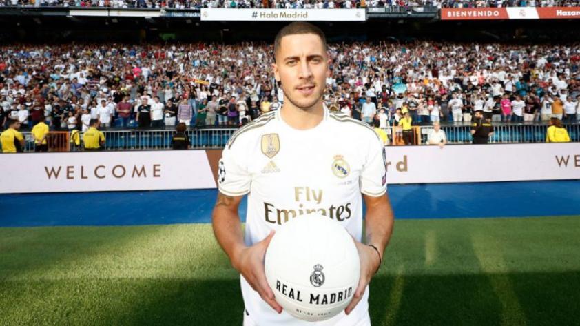 ¡El nuevo 'Galáctico'!: Eden Hazard fue presentado como nuevo jugador del Real Madrid