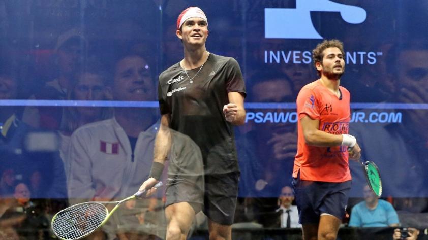 ¡Diego Elías es el único sudamericano en las semifinales del US Open del PSA World Tour! (VIDEO)
