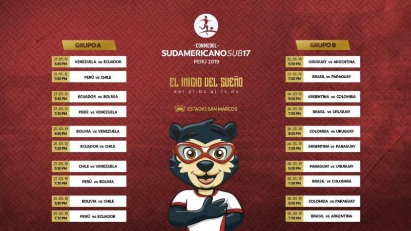 Sudamericano Sub 17: conoce el fixture oficial del torneo que se jugará en Lima