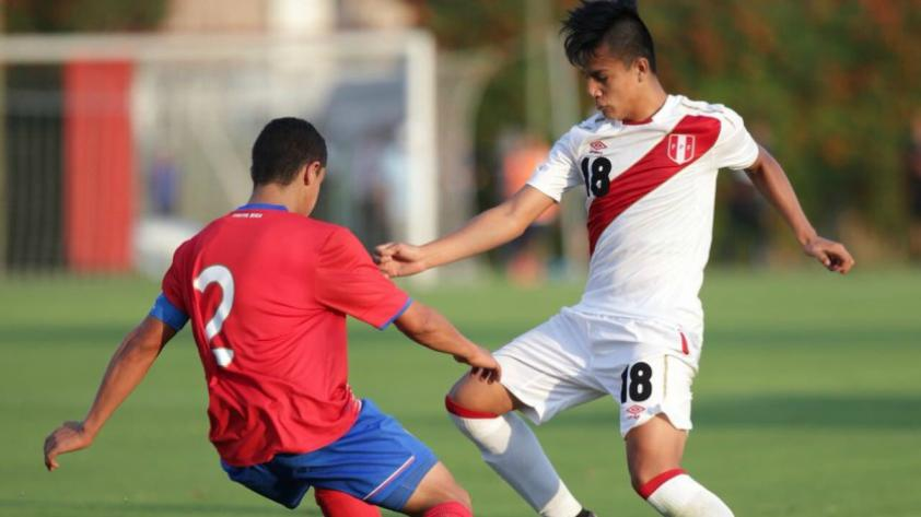 Perú perdió 0-1 ante Costa Rica en segundo amistoso sub 17