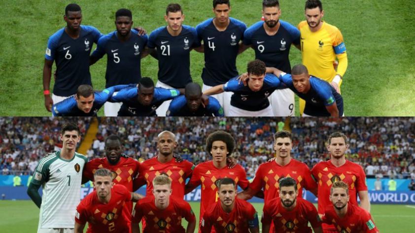 ¿Cuántas veces se han enfrentado Francia y Bélgica?