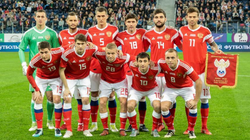 Selección de Rusia presentó su lista preliminar de convocados con 28 jugadores