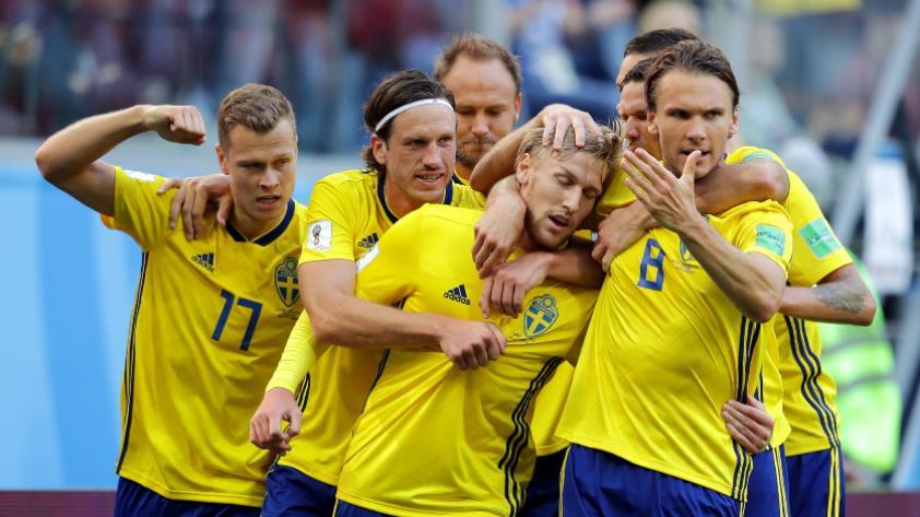Suecia le ganó 1-0 a Suiza y pasa a cuartos de final de Rusia 2018