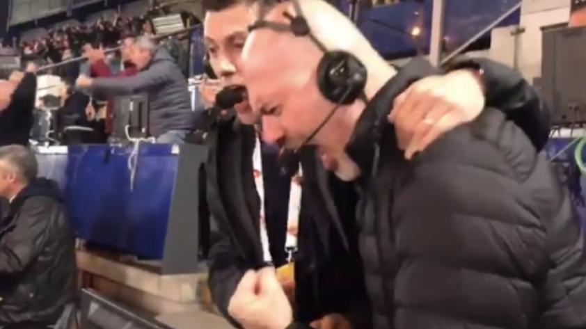 (VIDEO) Roma 3-0 Barcelona: la desenfrenada celebración de dos comentaristas en el Olímpico de Roma