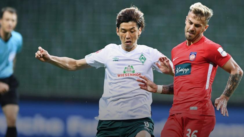 Werder Bremen empató sin goles contra el Heidenheim por la ida del play off de la Bundesilga